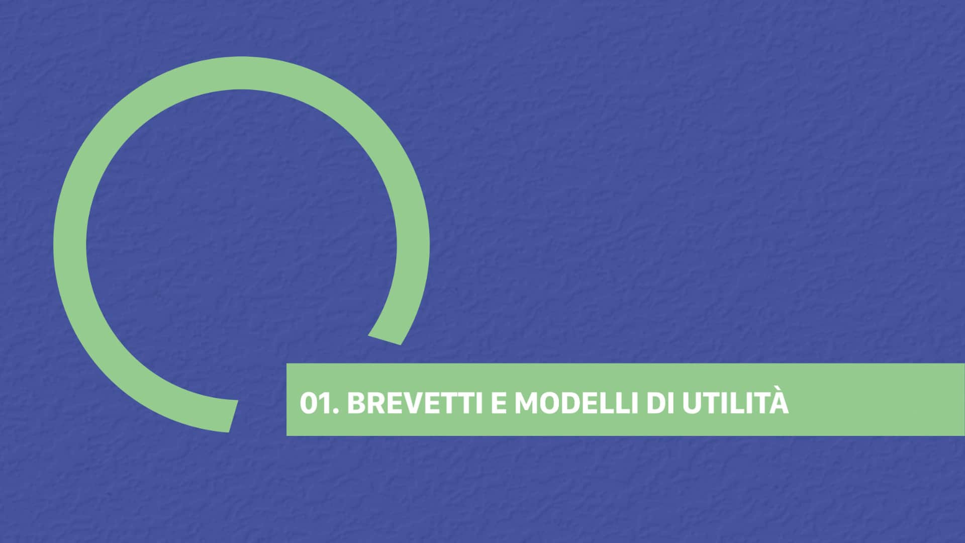 01. BREVETTI E MODELLI DI UTILITÀ