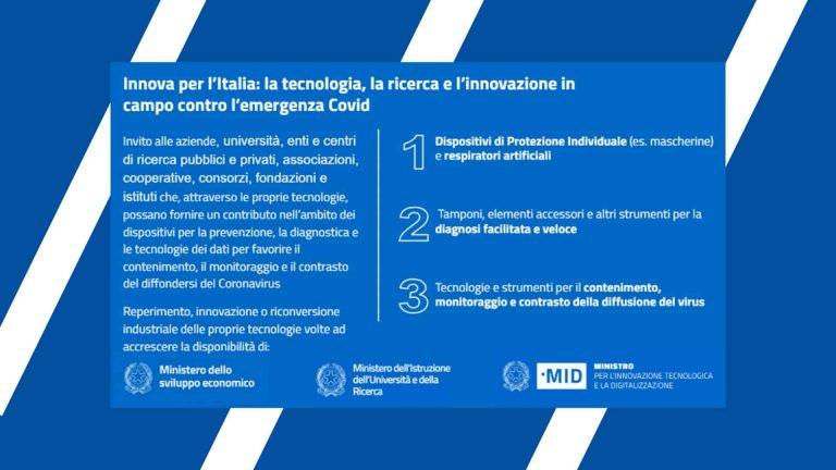 #InnovaperlItalia | la tecnologia per la lotta al Coronavirus